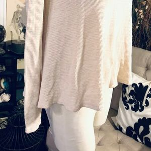 Free People Tops - WE THE FREE Free People Waffle Top Oatmeal ColorXS